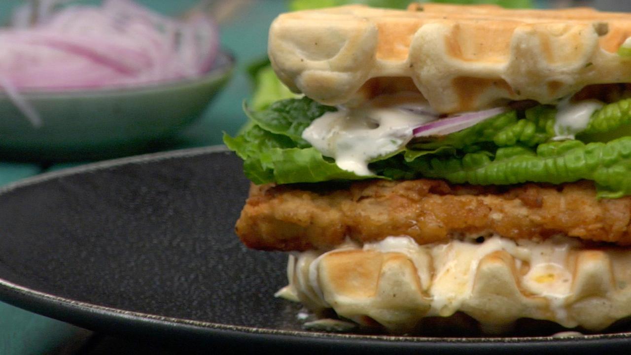 'chickn' & Waffles   Plant Based