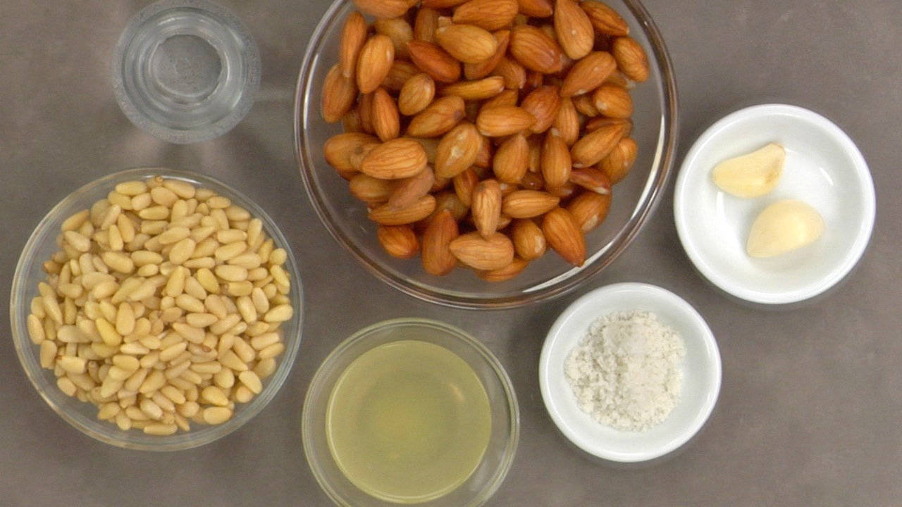 Preparing the Almond Pâté