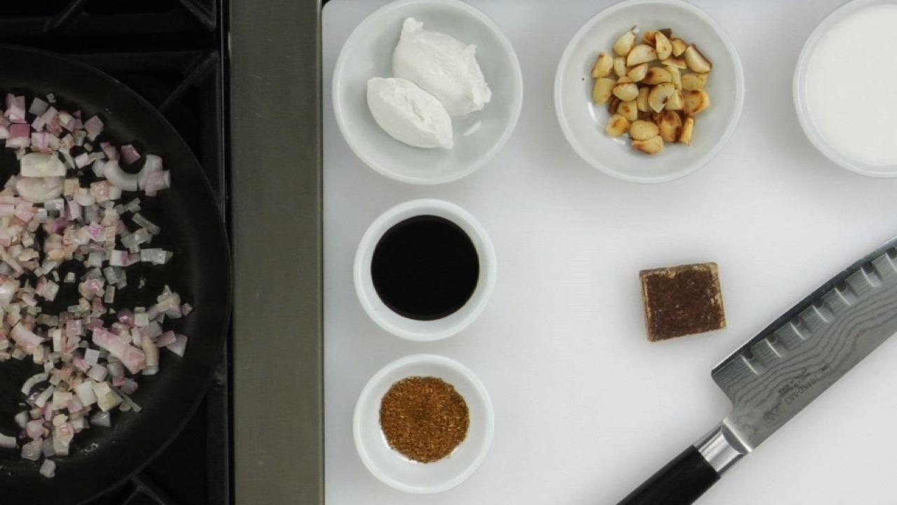 Making the Peanut Sauce