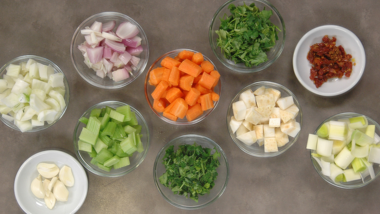 Preparing the Vegetables