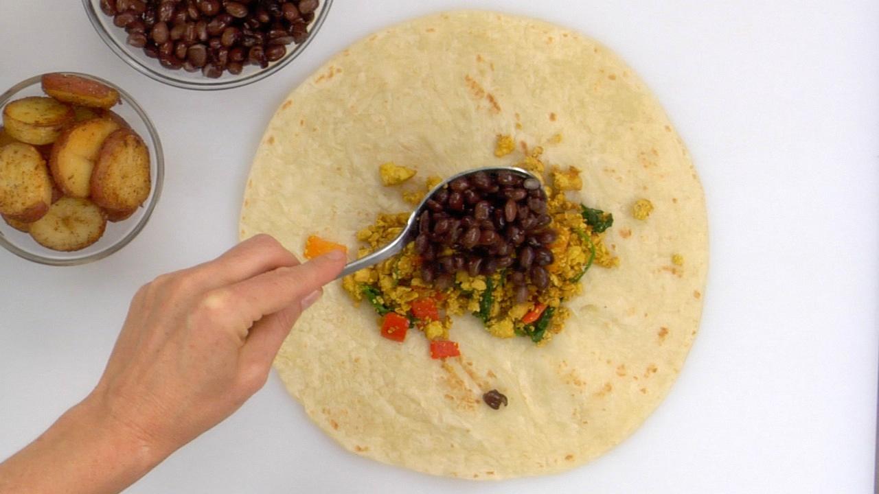 Preparing & Assembling the Burrito