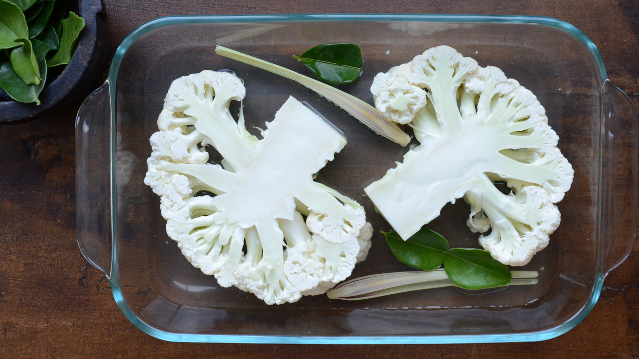 Preparing & Baking the Cauliflower