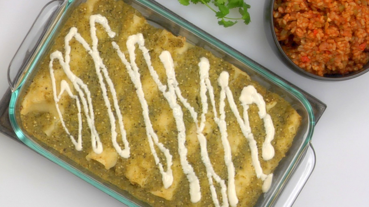 Chick'n Enchiladas | Plant Based