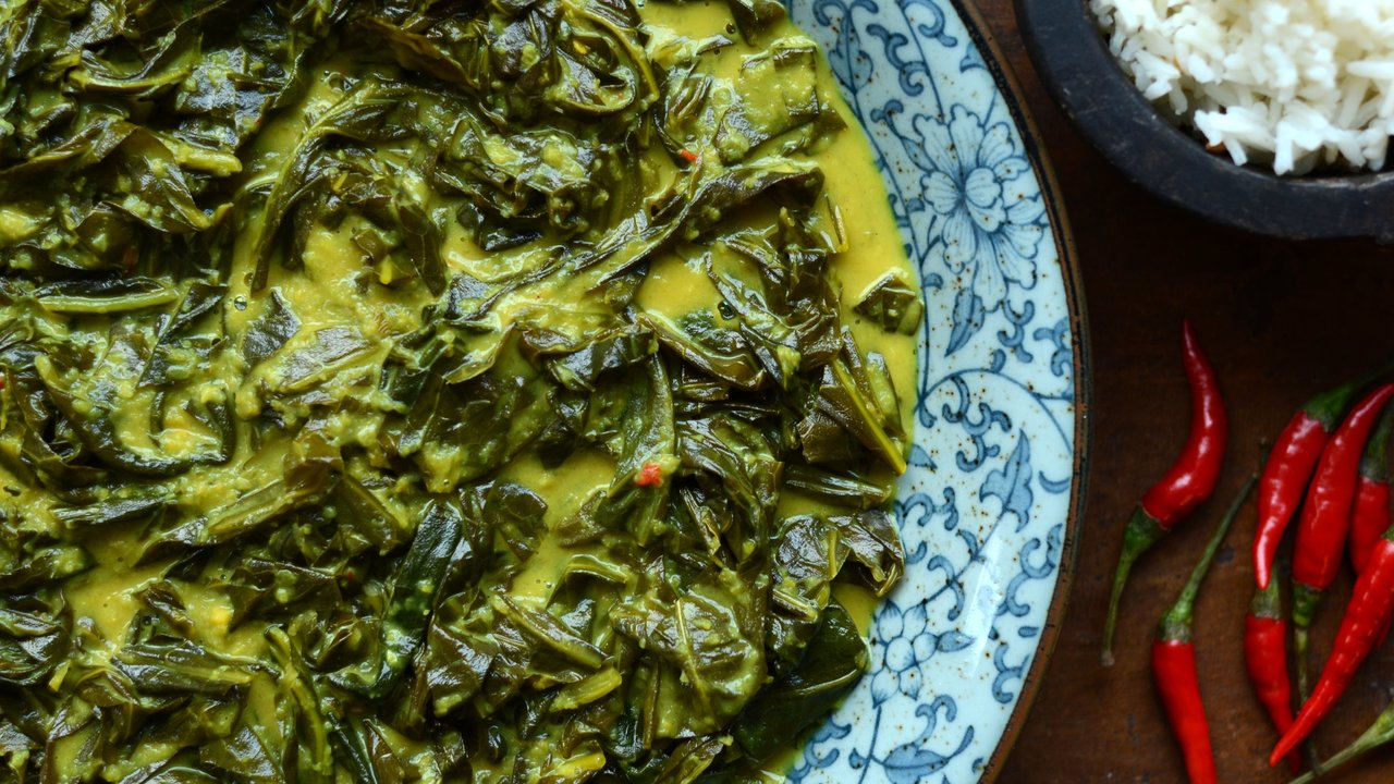 Indonesian Style Braised Collards | Gulai Sayur