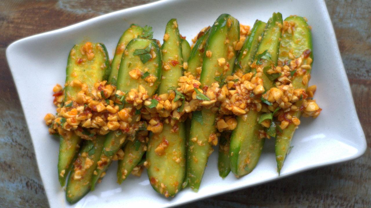 Baby Cucumbers W/ Sambal & Peanuts