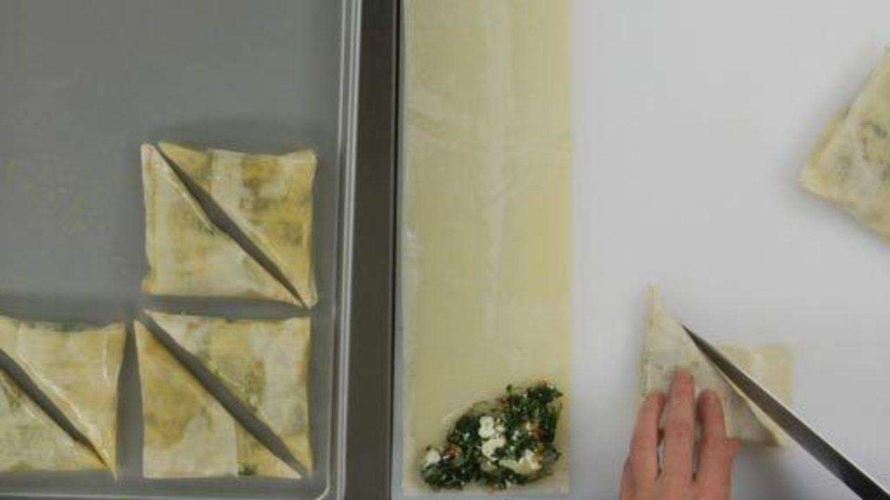 Assembling and Baking the Spanakopita