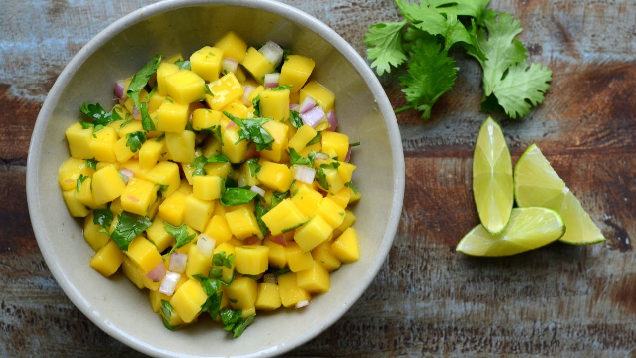 Preparing the Mango Salsa