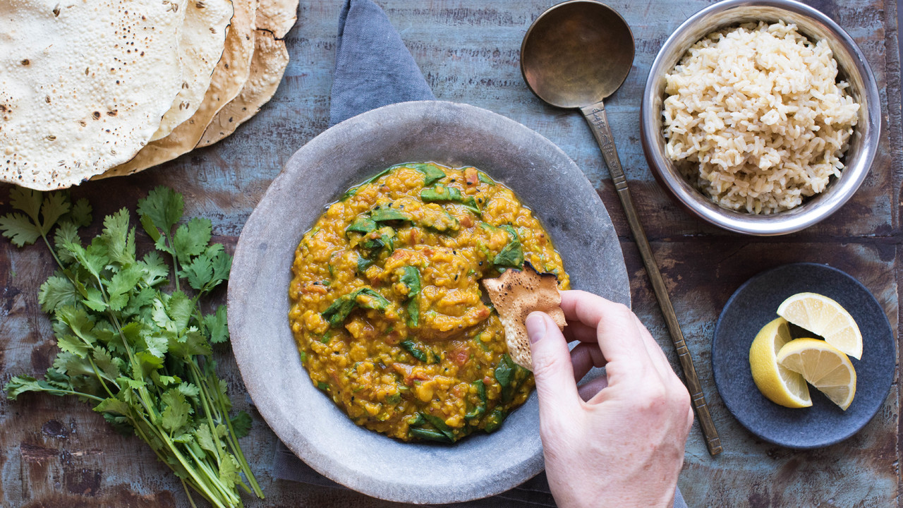 Finishing & Serving the Dahl