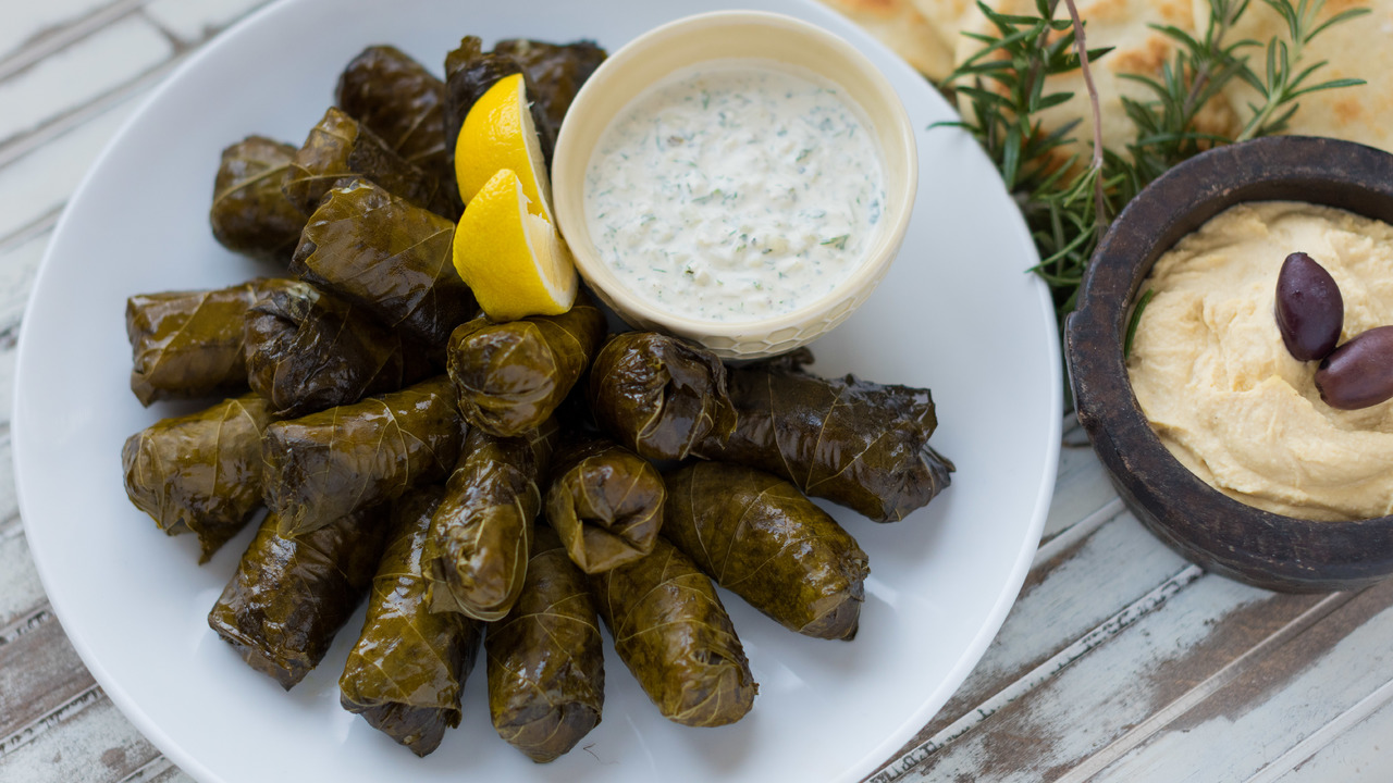 Dolmades | Stuffed Grape Leaves