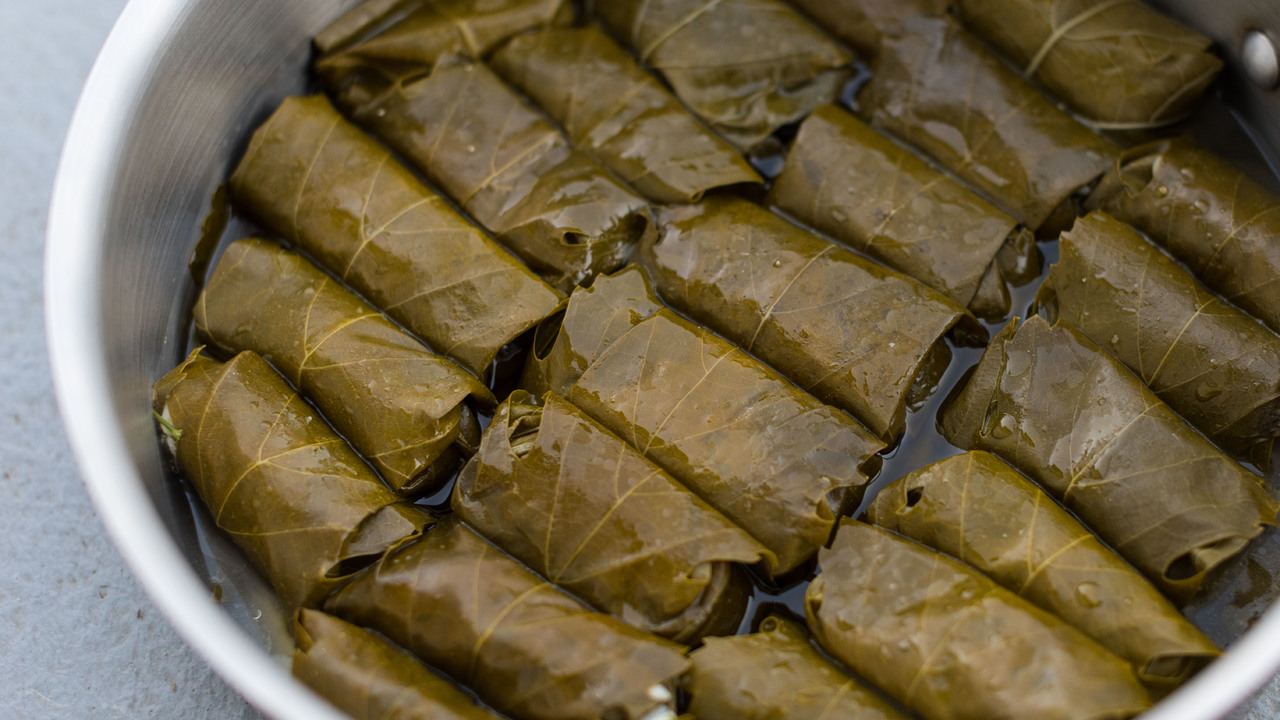 Cooking the Dolmades