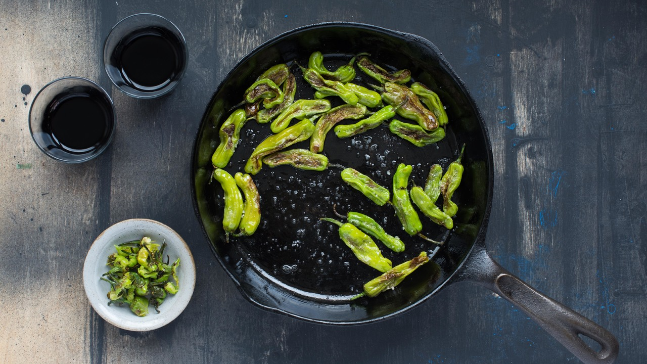 Charred Shishito Peppers