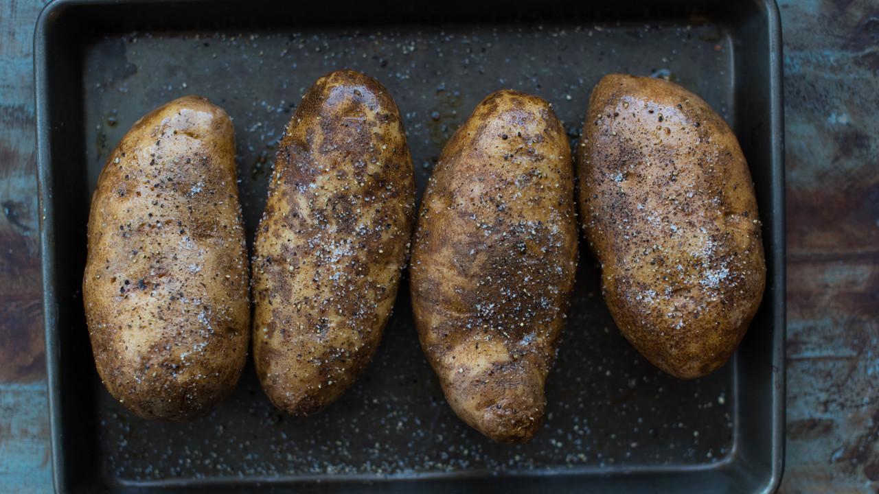 Prepping & Baking the Potato