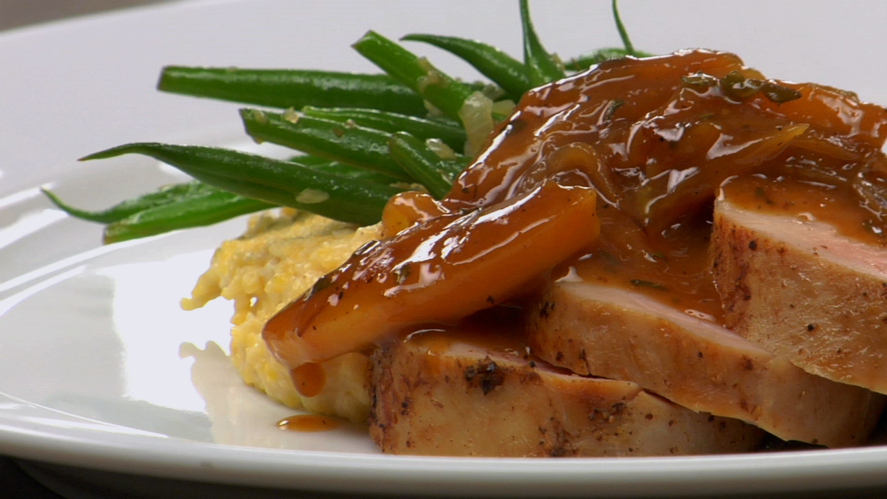 Roast Pork Tenderloin W/ Apple Sage Jus
