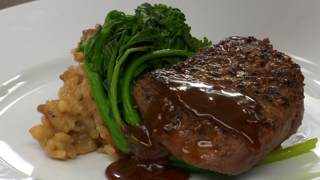 Beef Tenderloin W/ Peppercorn Sauce | Steak Au Poivre