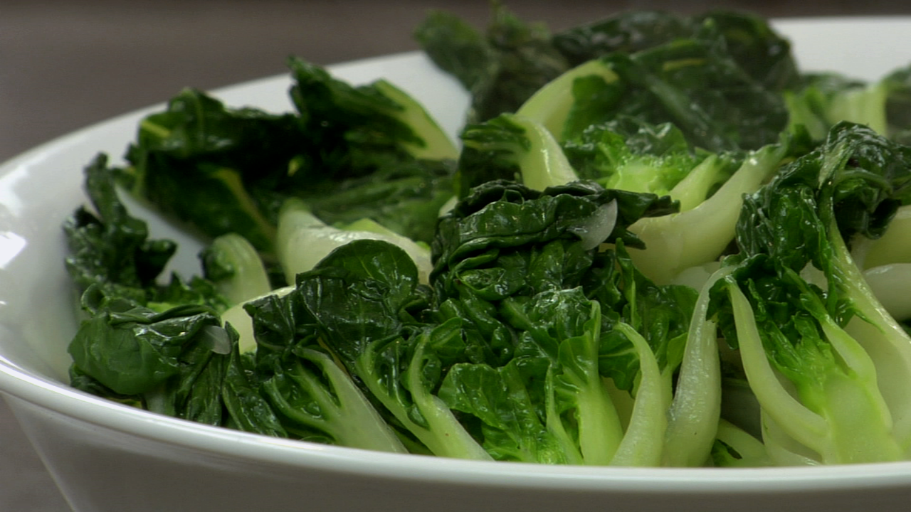 Steamed Baby Bok Choy