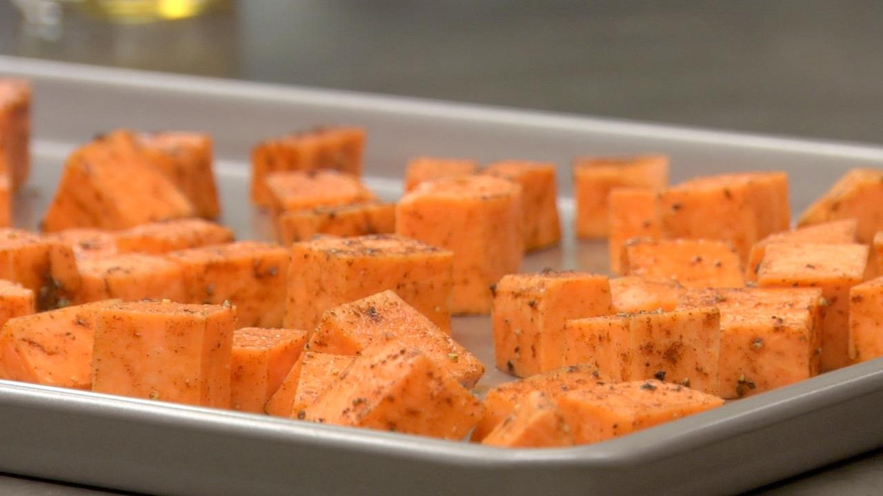 Preparing the Sweet Potatoes