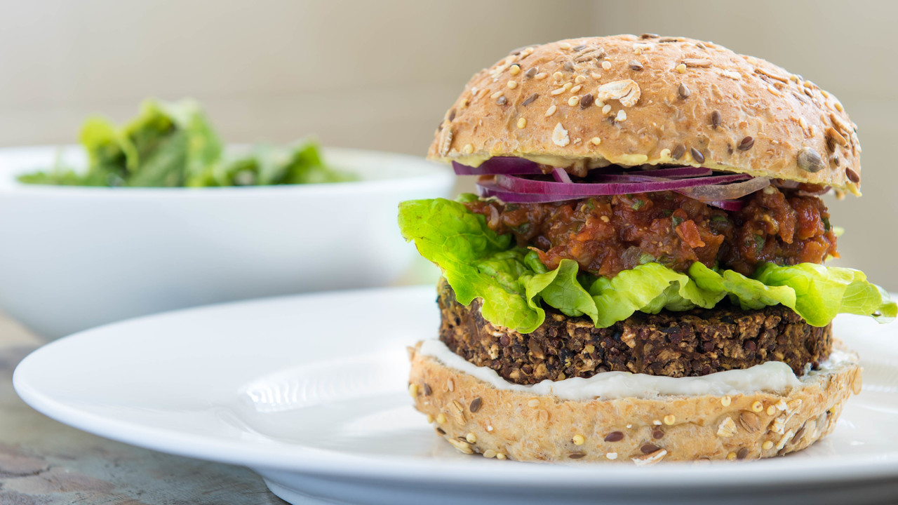 Mushroom Black Bean Quinoa Burger