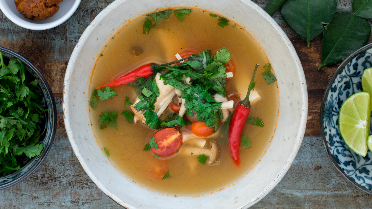 Tom Yum Hed  | Hot & Sour Mushroom Soup