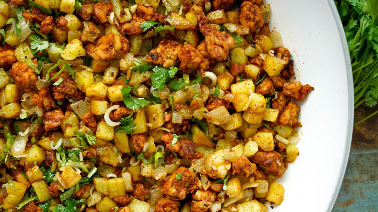 Chorizo Tempeh Hash