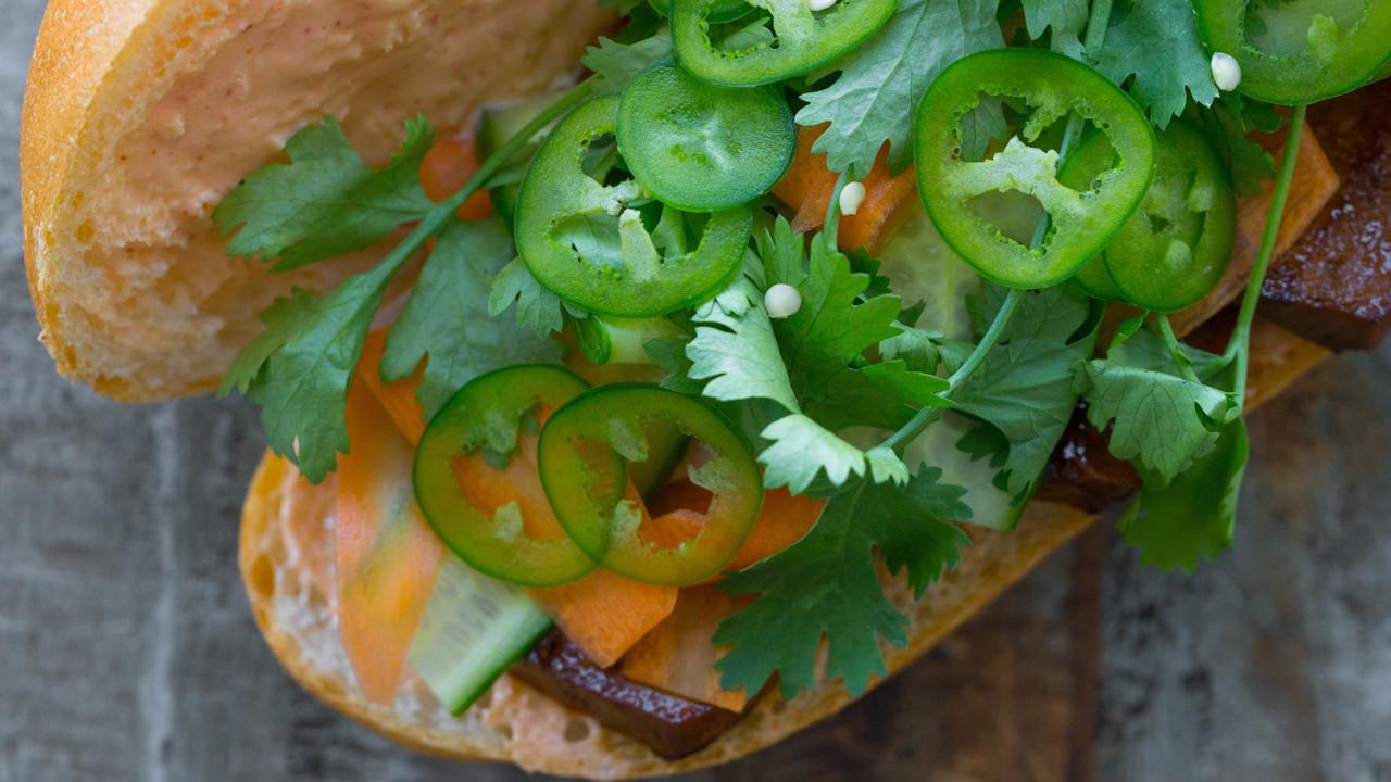 Lemongrass Tofu Bánh Mì | Vietnamese Sandwich
