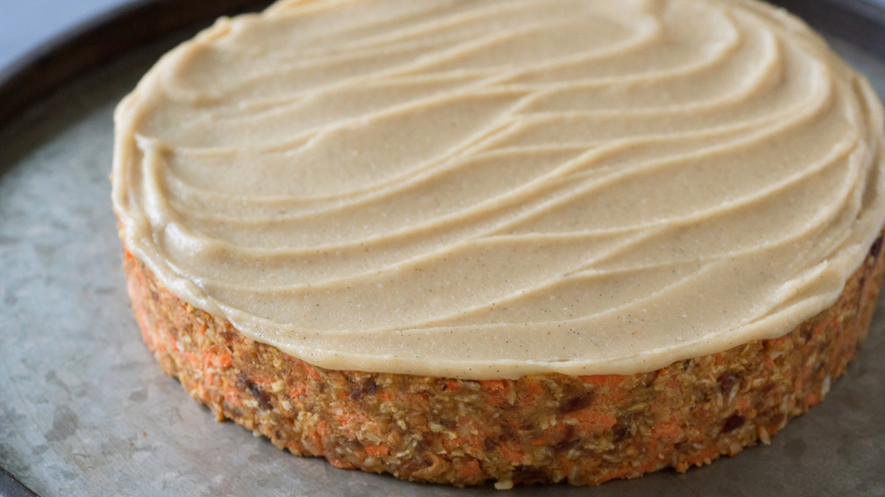 Raw Carrot Spice Cake