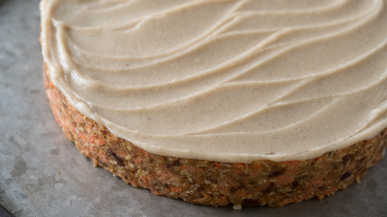 Frosting the Carrot Cake