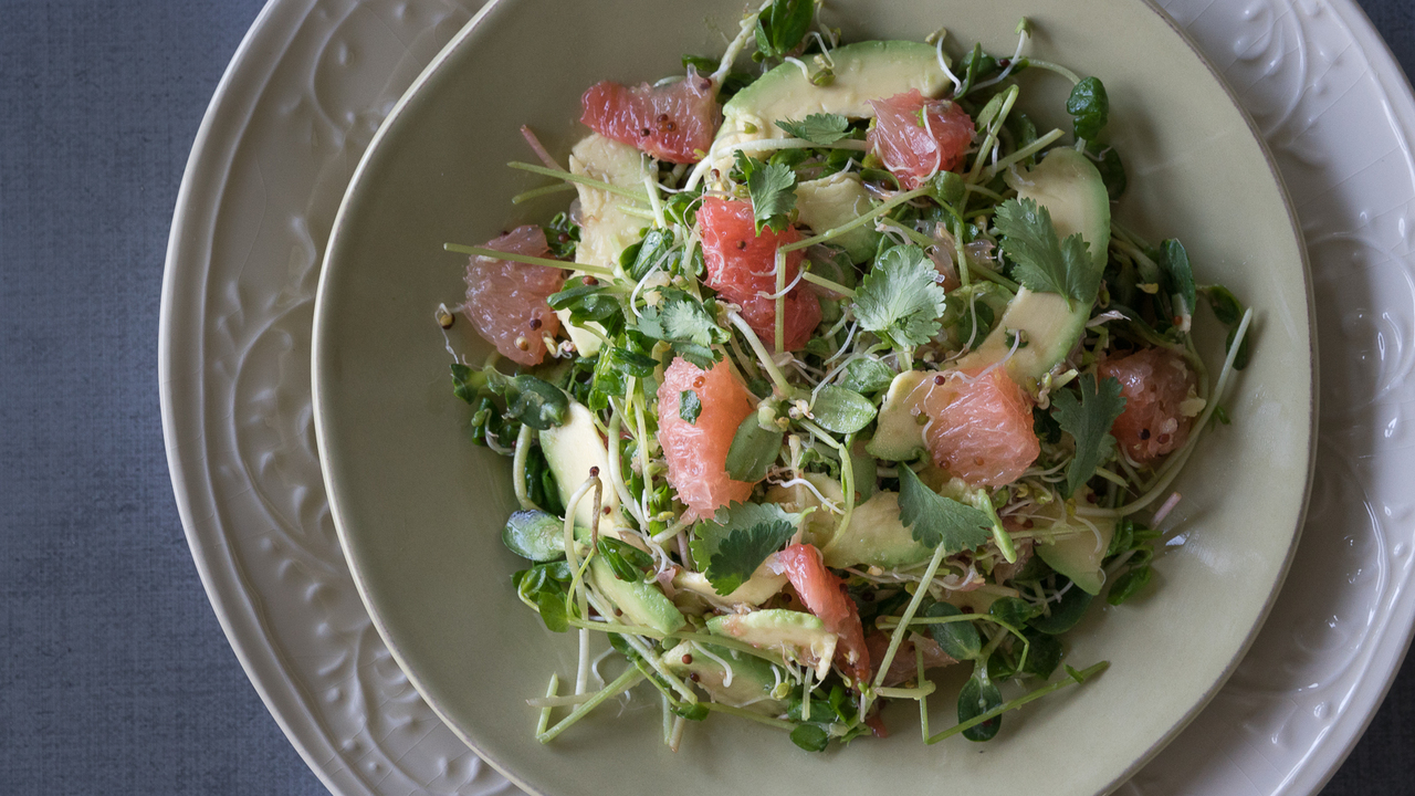 Sprout & Grapefruit Salad
