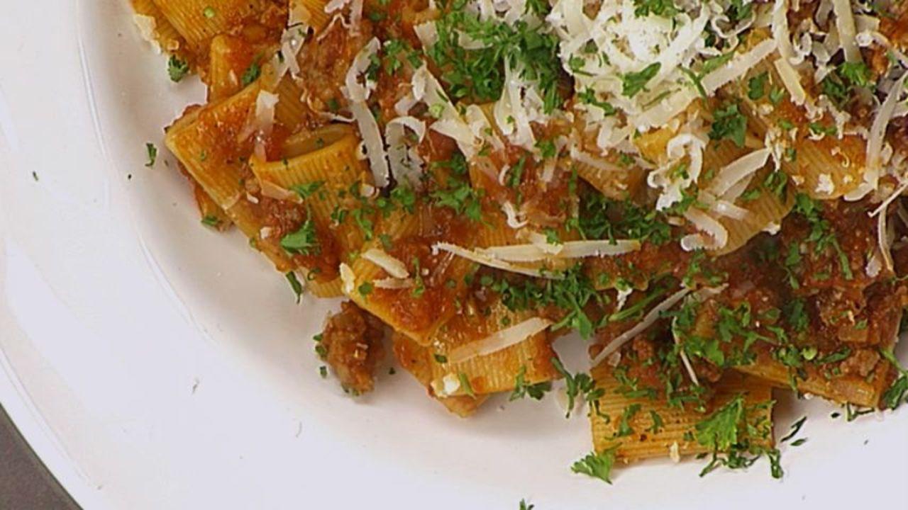 Sausage Rigatoni With Sun Dried Tomato Sauce
