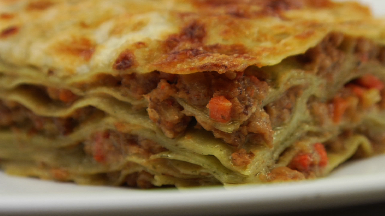 Lasagne is a bolognese. Recipe