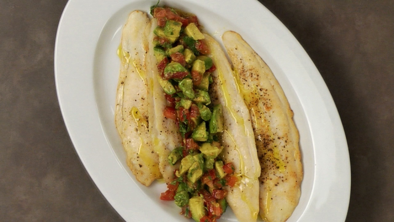 Basa With Avocado Tomato Salsa