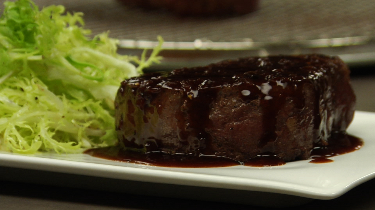 Beef Tenderloin W/ Red Wine Sauce