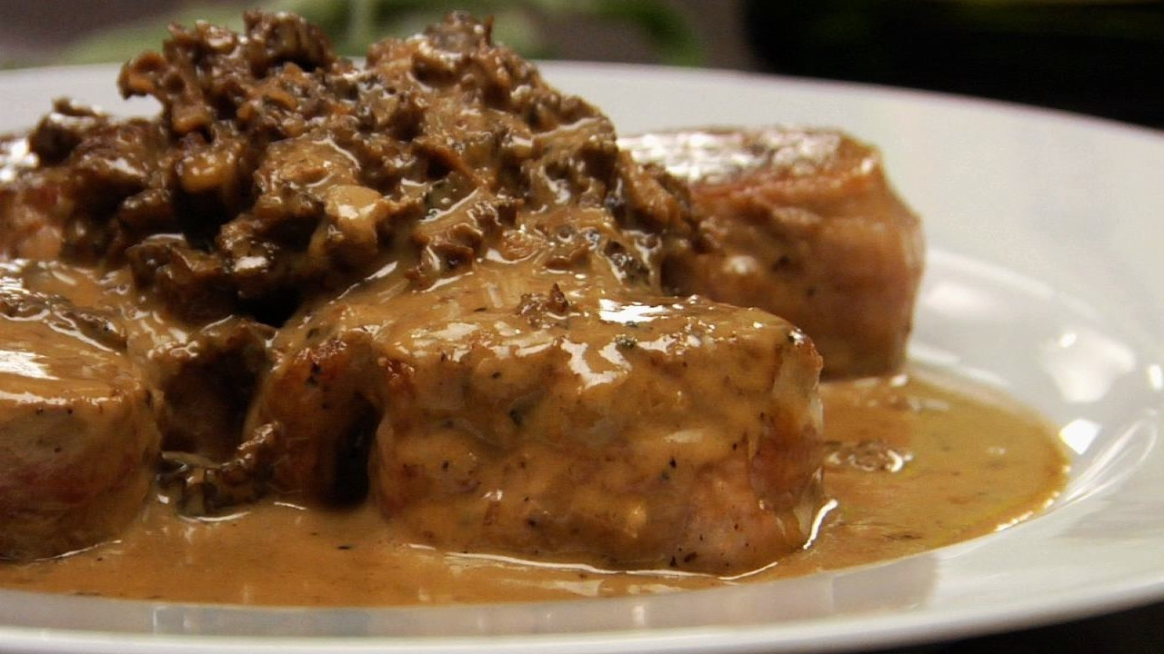 Pork With Morel Calvados Sauce