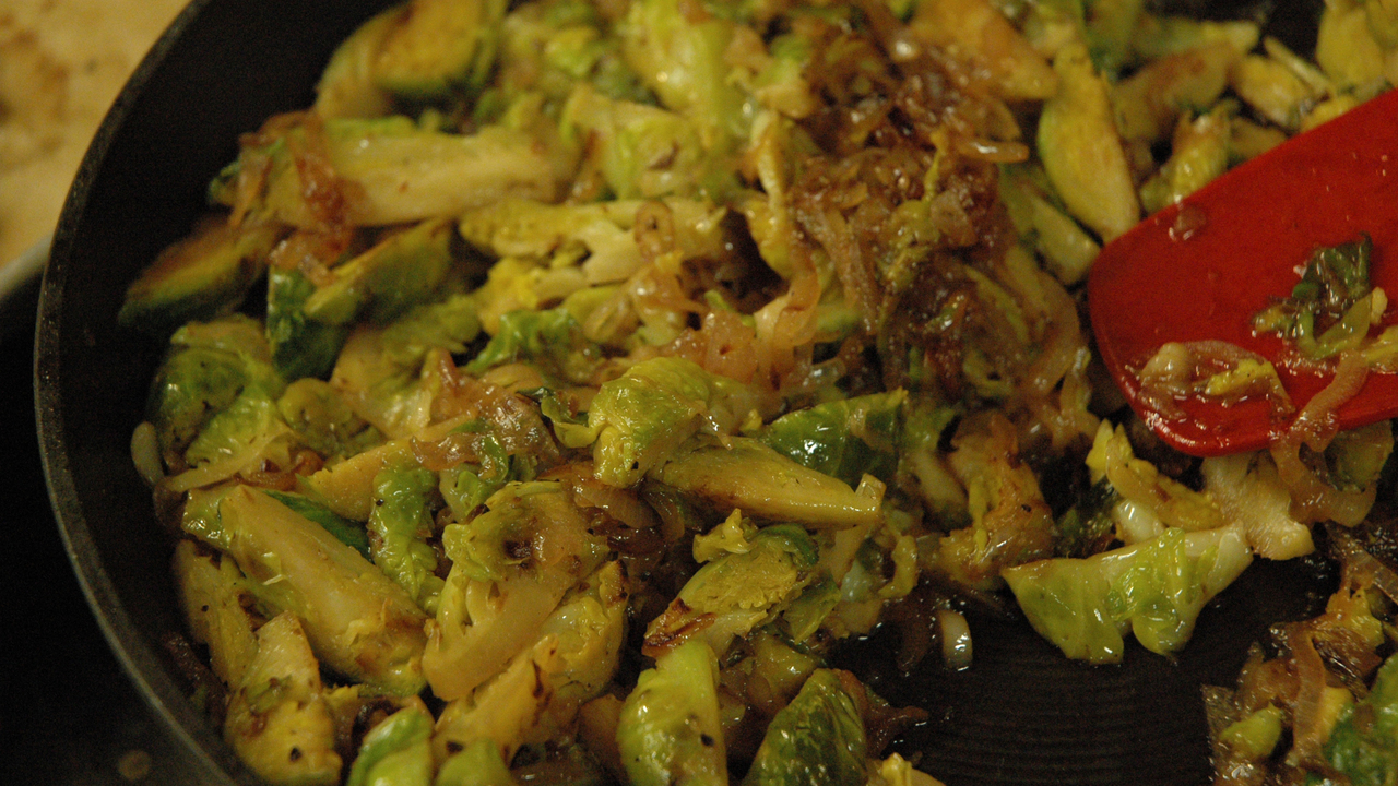 Sautéed Brussels Sprouts & Shallots