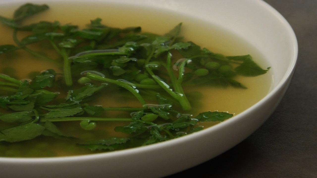Springtime Watercress And Pea Soup