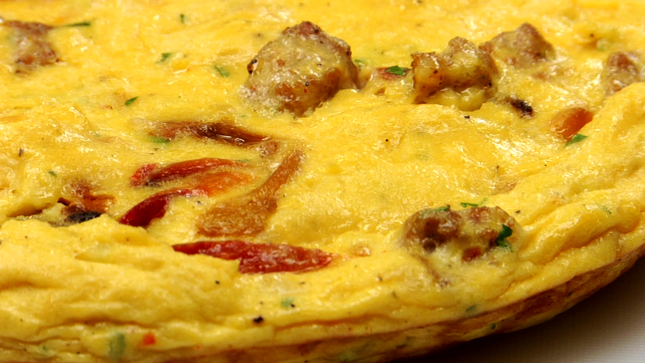 Italian Sausage & Roasted Pepper Frittata