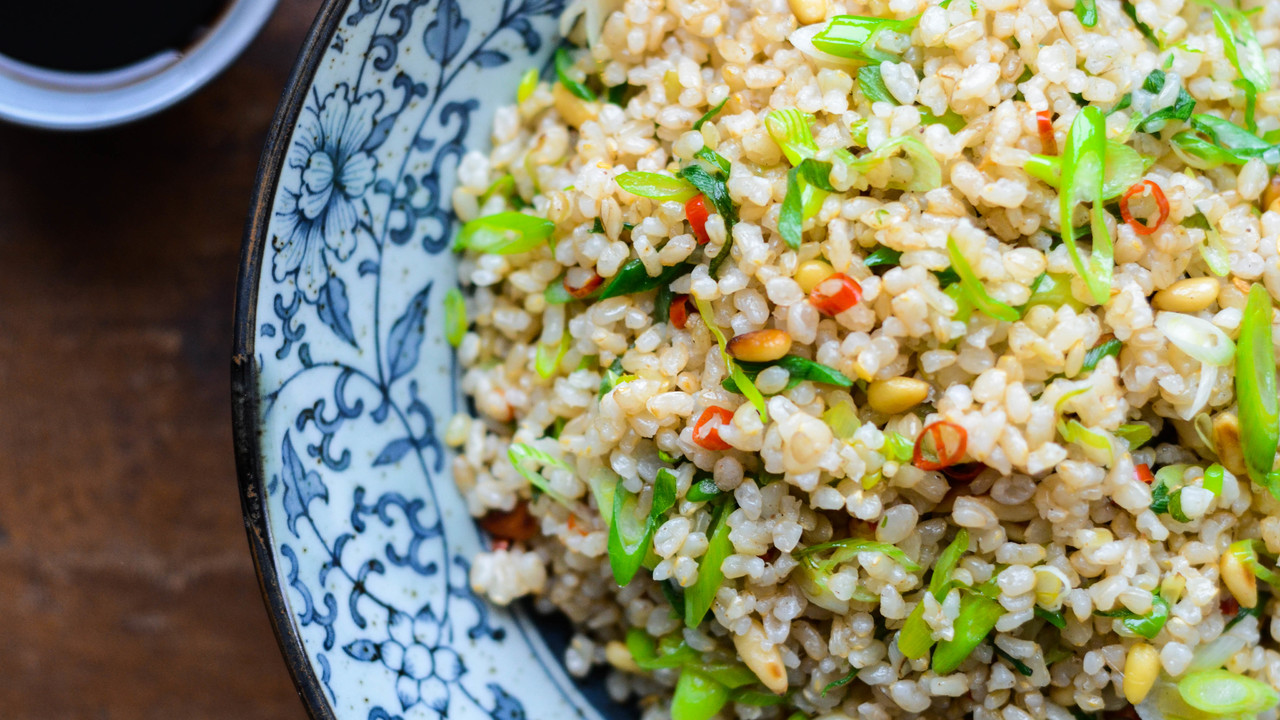 Japanese Style Fried Brown Rice