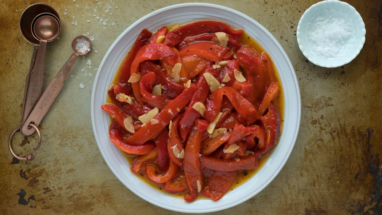 Char Roasted Red Peppers