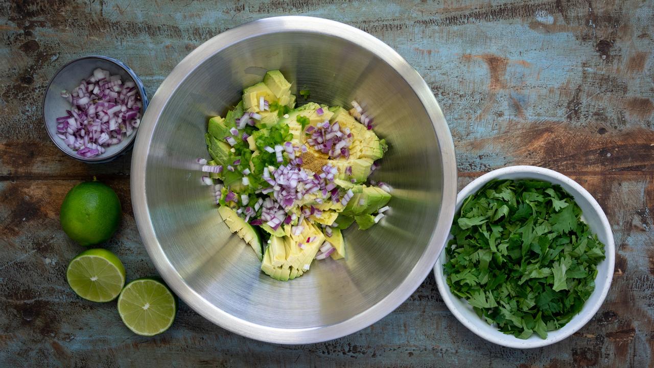 Preparing the Guacamole