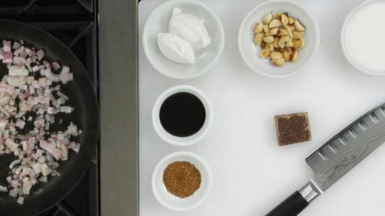 Preparing the Peanut Sauce