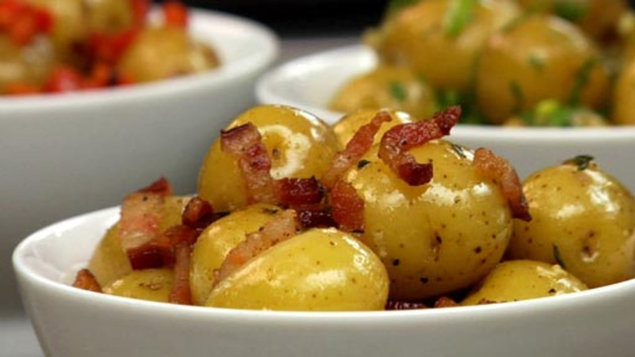 Steamed Potatoes W/ Bacon & Thyme