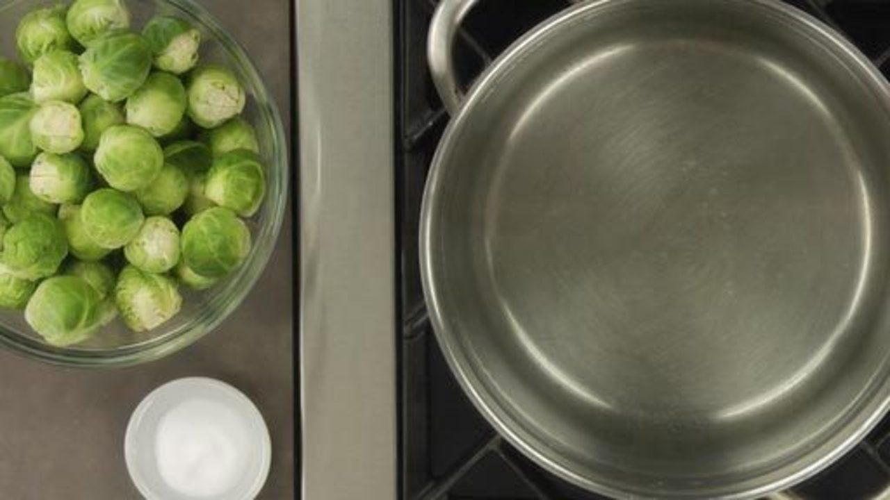 Preparing the Brussel Sprouts