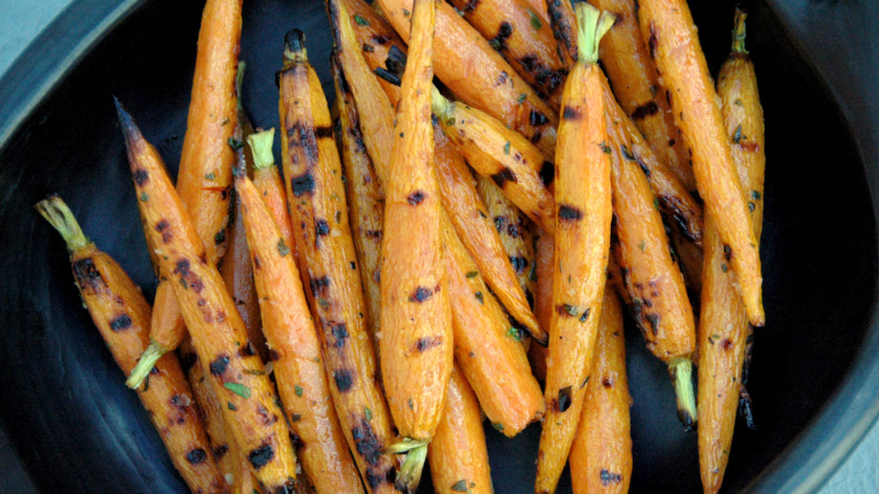Grilled Baby Carrots
