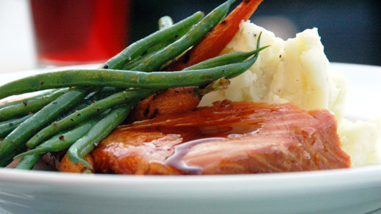 Barbecued Glazed Salmon