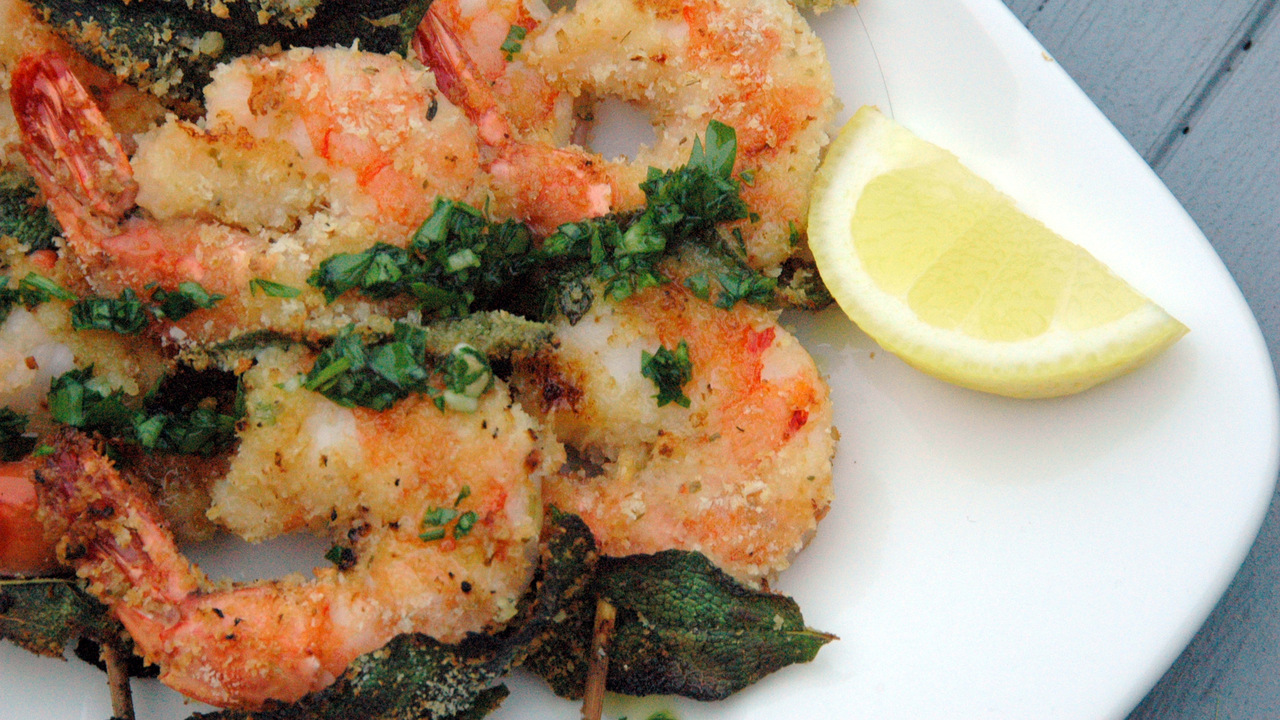 Grilled Prawns With Italian Salsa Verde