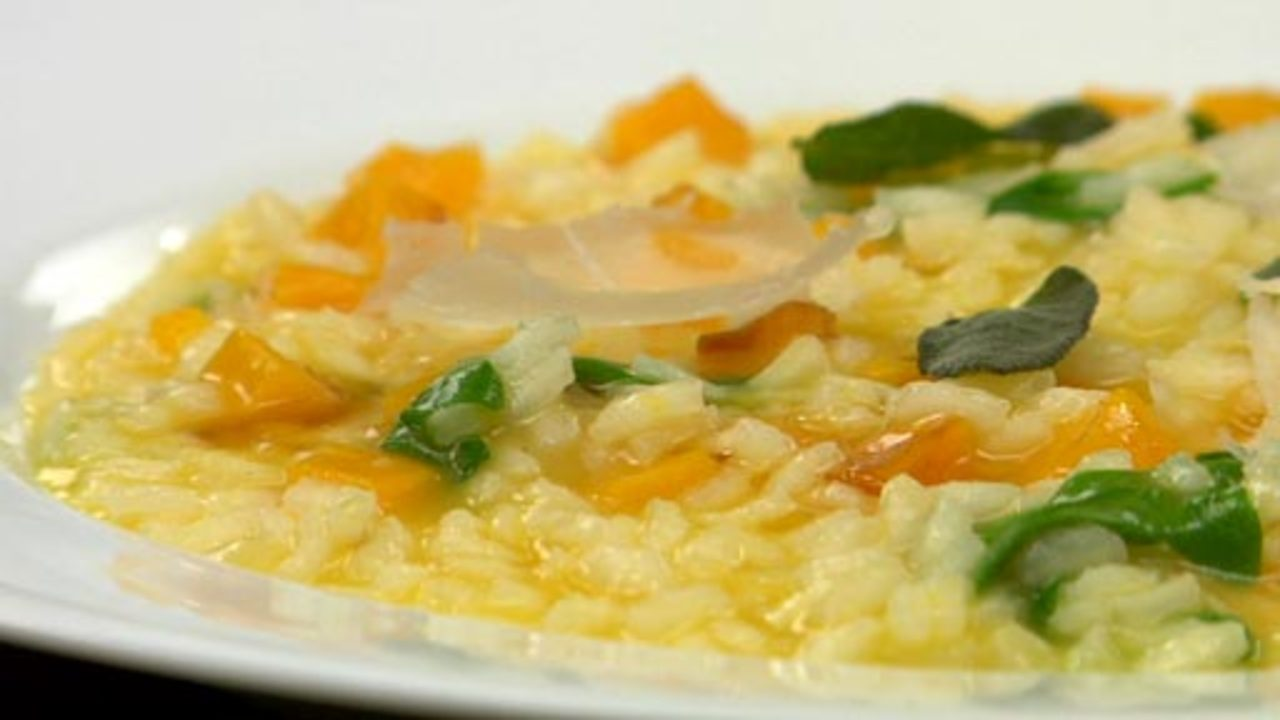 Butternut Squash Risotto W/ Sage Brown 'butter'
