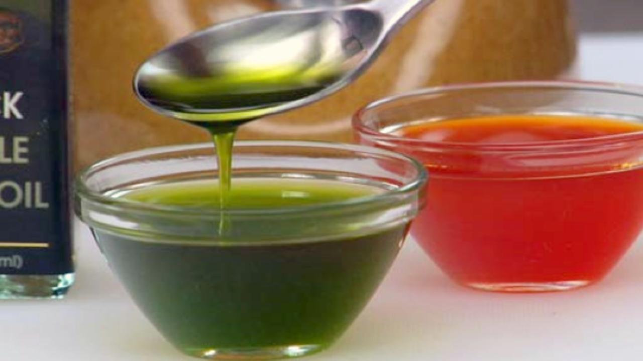 Preparing the Fresh Basil Oil