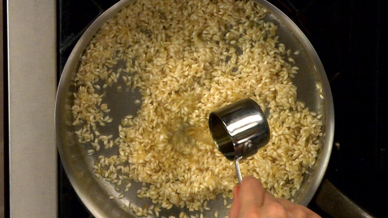 Toasting the Rice & Deglazing