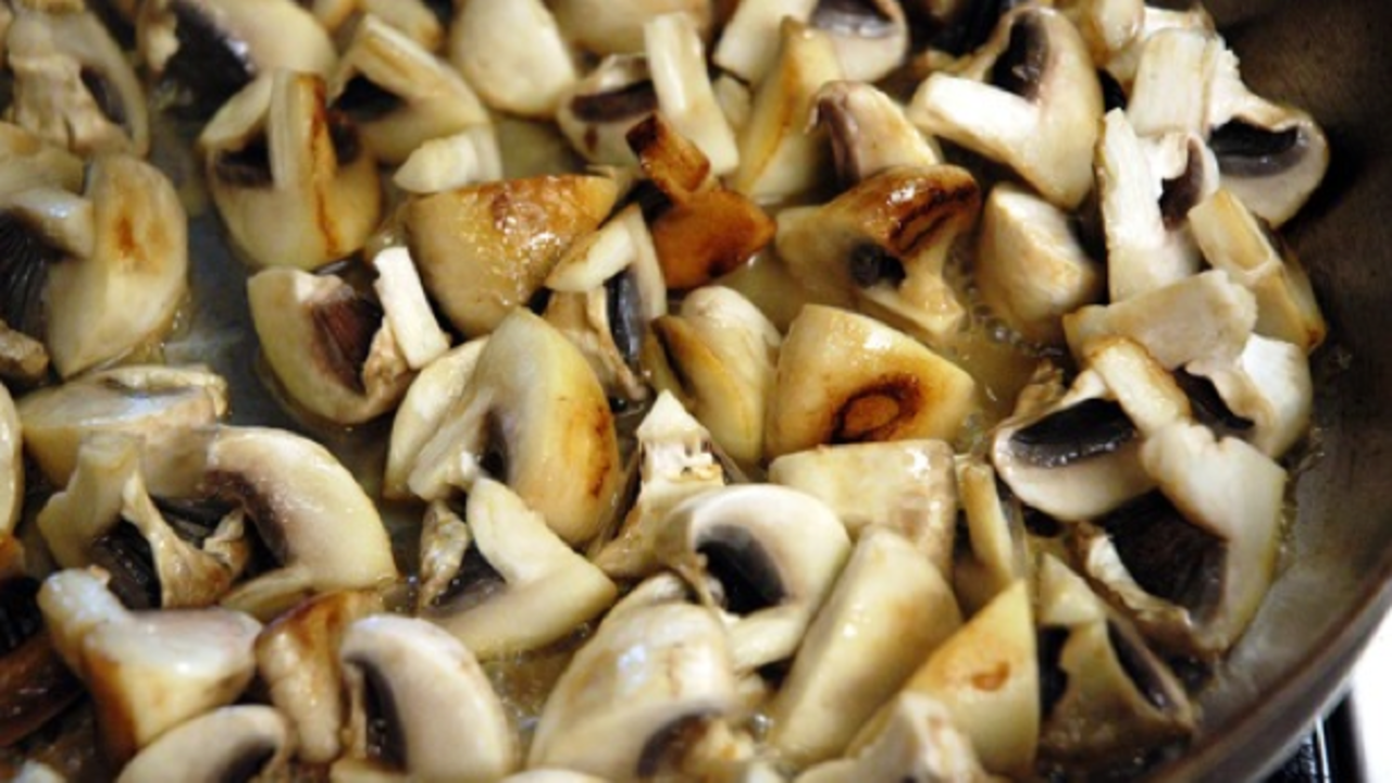 Sautéeing the Mushrooms
