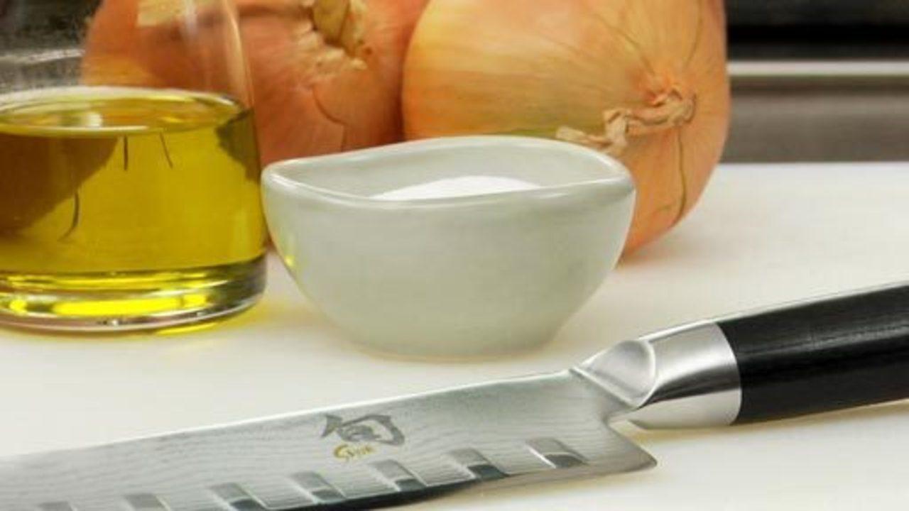 Preparing the Onions & Pre-Baking Tart