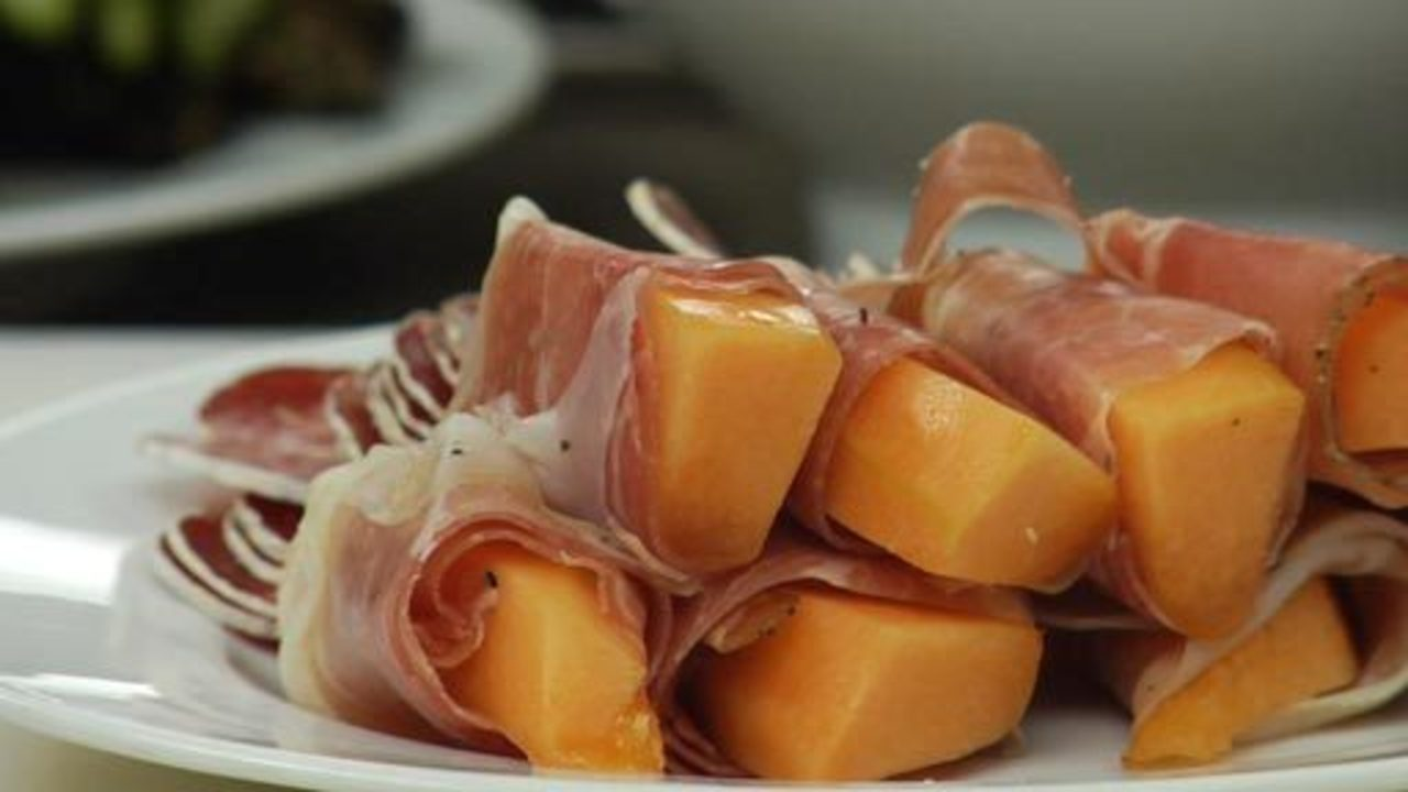 Prosciutto Wrapped Melon